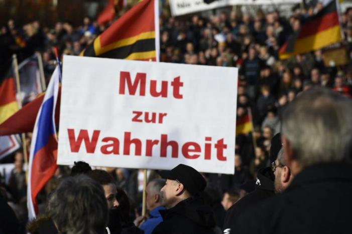 GERMANY-DRESDEN-DEMONSTRATION